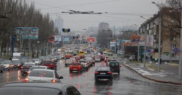 Донецк. Пересечение пр. Ленинский и ул. Куйбышева