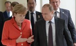 Меркель с Путиным 10.05.2014