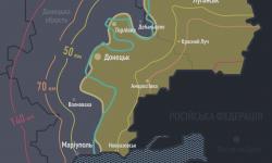 Карта отвода тяжёлых вооружений от лини соприкосновения на Донбассе
